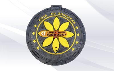 Manhole Cover Sondakan, Laweyan, Surakarta dengan Desain Bunga
