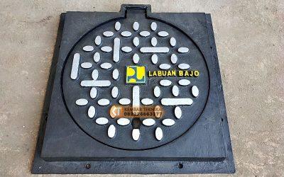 Manhole Cover Custom Bahan Besi Cor Laboan Bajo