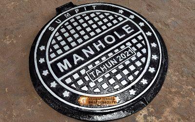Manhole Cover Custom Bahan Metal Casting