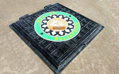 Manhole Cover untuk Tutup Saluran Drainase Bahan Besi Cor